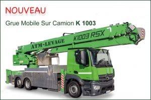 Location grue mobile sur camion k1003 en île de France